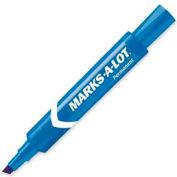 Avery® Marks-A-Lot Permanent Marker, Chisel Tip, Blue Ink, Dozen