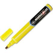 Avery® Marks-A-Lot Permanent Marker, Medium Chisel Tip, Yellow Ink, Dozen