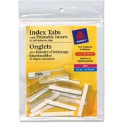 """Avery® Self-Adhesive Index Tabs with Printable Inserts, 1-1/2"""" Width, Clear, 25 Tabs/Pack"""