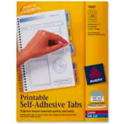 "Avery® Printable Self-Adhesive Tabs, 1-1/4"" Width, Assorted, 96 Tabs/Pack"