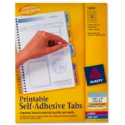 "Avery® Printable Self-Adhesive Tabs, 1-3/4"" Width, Assorted, 80 Tabs/Pack"