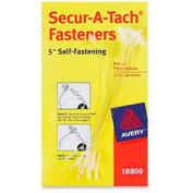 """Avery® Secur-A-Tach Fasteners, 5"""" Length, White, 1000/Box"""