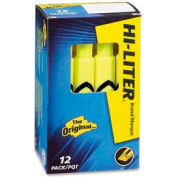 Avery® Hi-Liter Desk Style Highlighter, Chisel Tip, Fluorescent Yellow Ink, Dozen