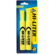 Avery® Hi-Liter Desk Style Highlighter, Chisel Tip, Fluorescent Yellow Ink, 2/Pack