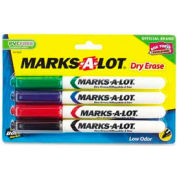 Avery® Marks-A-Lot Pen Style Dry Erase Marker, Bullet Tip, Assorted Ink, 4/Set