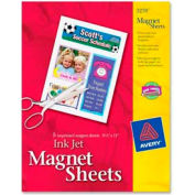 """Avery® Inkjet Magnet Sheet, 8-1/2"""" x 11"""", Matte, White, 5 Sheets/Pack"""