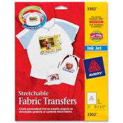 """Avery® Stretchable Fabric Iron-on Transfer, 8-1/2"""" x 11"""", Matte, 5 Sheets/Pack"""
