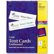 "Avery® Laser/Inkjet Tent Cards, 3-1/2"" x 11"", White, 50 Cards/Pack"