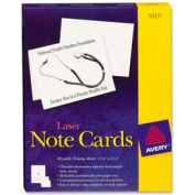 """Avery® Laser Note Cards with Envelope, 4-1/4"""" x 5-1/2"""", White, 60 Cards/Box"""
