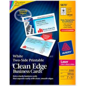 """Avery® Two-Side Printable Business Card, 2"""" x 3-1/2"""", Matte, White, 2000 Cards/Pack"""