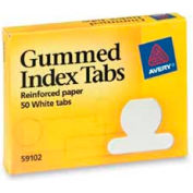 "Avery® Gummed Index Tabs, 1/2"" Tab Extension, White, 50 Tabs/Pack"