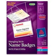"""Avery® Hanging Style Name Badges, 3"""" x 4"""", Clear, 100/Box"""