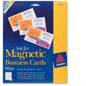 """Avery® Business Card, 2"""" x 3-1/2"""", Matte, White, 30 Cards/Pack"""