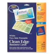 """Avery® Two-Side Printable Inkjet Business Card, 2"""" x 3-1/2"""", Matte, White, 200 Cards/Pack"""
