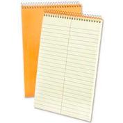 "Esselte® Rigid Kraft Covered Steno Book, 6"" x 9"", Gregg Ruled, Green Tint, 60 Sheets/Pad"