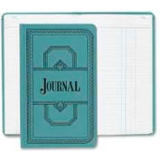"""Boorum & Pease® Account Book, Journal Ruled, 12-1/8"""" x 7-1/2"""", Blue Cover, 300 Sheets/Pad"""