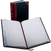 "Boorum & Pease® Account Book, Record Ruled, 8-5/8"" x 14-1/8"", Black Cover, 500 Pages/Pad"