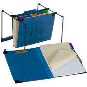 "Esselte® Hanging Employee/Personnel Folder, 9-1/2"" x 11-3/4"", 2"" Expansion, Blue"