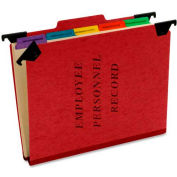 "Esselte® Hanging Employee/Personnel Folder, 9-1/2"" x 11-3/4"", 2"" Expansion, Red"