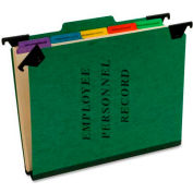 "Esselte® Hanging Employee/Personnel Folder, 9-1/2"" x 11-3/4"", 2"" Expansion, Green"