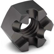 5/8-18 Slotted Hex Nut - Grade 2 - Carbon Steel - Zinc Clear Trivalent - Fine - Pkg of 10