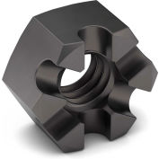 3/4-10 Slotted Hex Nut - Grade 5 - Carbon Steel - Zinc Clear Trivalent - Coarse - Pkg of 10