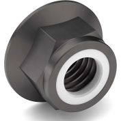 3/8-16 Nylon Insert Hex Flange Lock Nut - Grade 8 - Carbon Steel - Zinc Yellow - Coarse - Pkg of 50