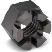 3/8-24 Hex Castle Nut - Grade 2 - Carbon Steel - Plain - Fine - Pkg of 100
