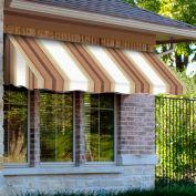 Awntech EF1836-3WLTER, Window/Entry Awning 3-3/8'W x 1-1/2'H x 3'D White/Linen/Terra Cotta