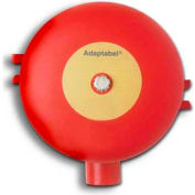 "Edwards Signaling, 439D-8AW-R, Vibrating Fire Alarm Bell 8"", 24 VDC, 0.85 AMPS,Red Diode"