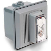 Edwards Signaling 868STRC-N5 Surface Mount Horn Strobe For Outdoor Use 120V AC Clear