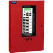 Edwards Signaling, E-FSC502RD, Conventional Fire Alarm Control Panels, 5 Zone, 120V, Red With Dialer