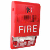 Edwards Signaling, EG1RF-CVM, Genesis Chime/Strobe, Wall Mt., 15-95 CD, Marked Fire, 24VDC, Red