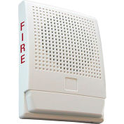 Edwards Signaling, G4HFWF-S7, Wall Speaker 70 V, White, Marked Fire