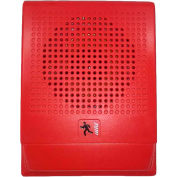 Edwards Signaling, EG4RF-S7, Wall Speaker, 70 V, Red, Marked Fire