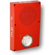 Edwards Signaling, WG4RF-SVMHC, Outdoor Speaker Strobe, Red, Fire, Ho Cd