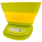 Digital Portion Scale 11lb x 0.1oz/5000g x 1g With Collapsible 1.5 Qt Bowl Garden Yellow