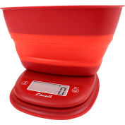 Digital Portion Scale 11lb x 0.1oz/5000g x 1g With Collapsible 1.5 Qt Bowl Poppy Red