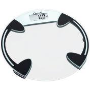 Escali B180RC Digital Glass Platform Bathroom Scale, 400lb x 0.2lb/180kg x 0.1kg, Clear