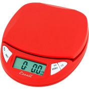 Digital Kitchen Scale 11lb x 0.1oz/5000g x 1g Red