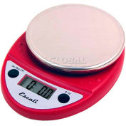 Digital Kitchen Scale 11lb x 0.1oz/5000g x 1g Red NSF
