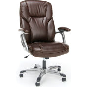 OFM Essentials Collection High-Back Bonded Leather Executive Chair, in Brown (ESS-6030-BRN)