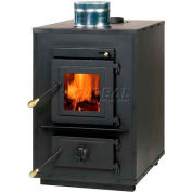 "Timber Ridge Wood Burning Stove Heater 50-TRW35, Add-On Furnace, 6"" Top Vent, Blower, Thermostat"