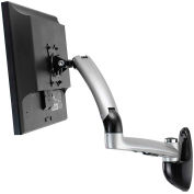 Ergotech Freedom Arm™ Single Monitor Wall Mount Arm - Silver