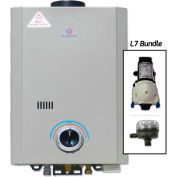 Eccotemp L7 Portable Tankless Water Heater W/ Flojet Pump & Strainer - 14kW, 1.7 GPM