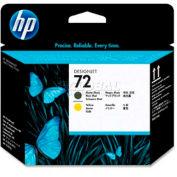 HP® 72 Printhead C9384A, Matte Black and Yellow