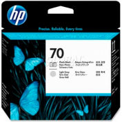 HP® 70 Printhead C9407A, Photo Black and Light Gray