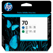 HP® 70 Printhead C9408A, Blue and Green