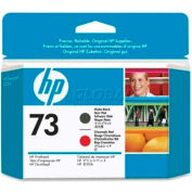 HP® 73 Printhead CD949A, Matte Black and Chromatic Red