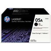 HP® HP 05A, (CE505D) 2-pack Black Original LaserJet Toner Cartridges